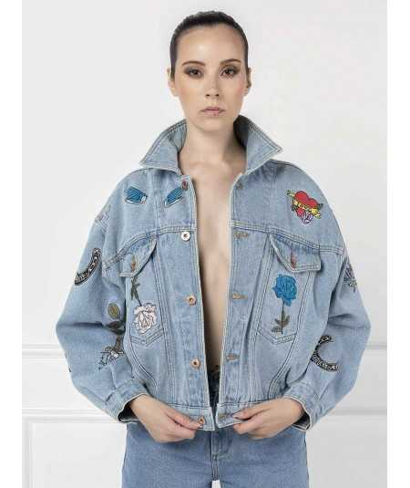 Casaco oversize Little Rebel Aly John